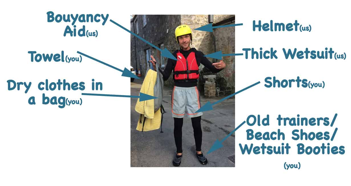 what you'll need for coasteering